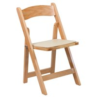 A Line Furniture Helicon Natural Wood Folding Chairs