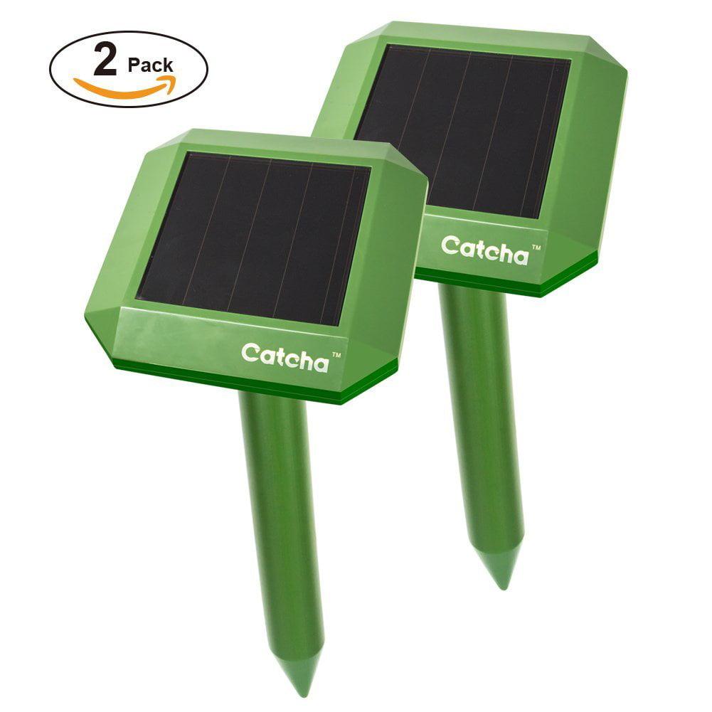 2 x Solar Powered Sonic Mole Repeller Control Mole, Voles...