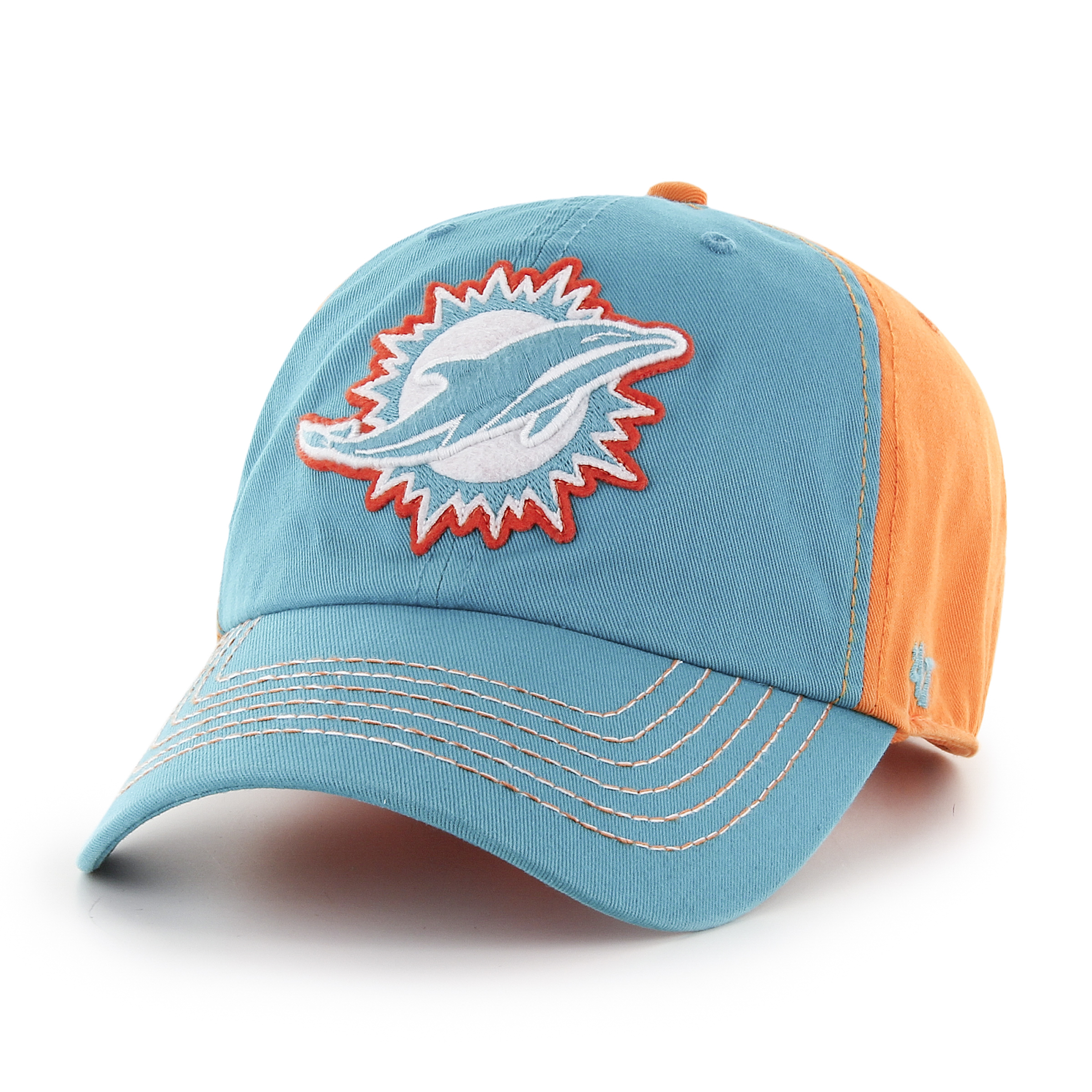 finest selection 36090 50ecd ... discount code for miami dolphins 47 brand nfl slot back clean up  adjustable hat 059f7 3d528