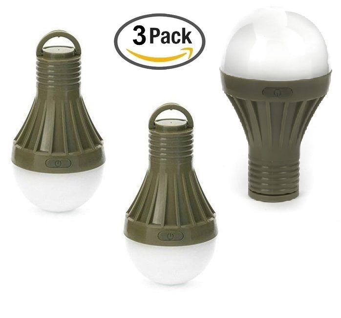 (3 PACK) Battery Operated Lanterns for Camping Bright Magnetic Flashlight Camping Battery Powered Portable LED Tent Light Lamp Lantern Light Bulb