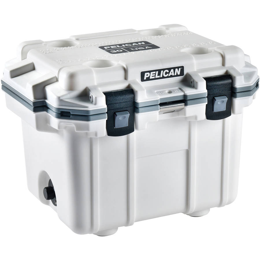 Pelican Elite Cooler, White/Gray, 30 qt.