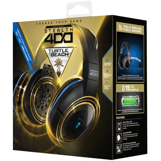 9057283c8d0 Turtle Beach Stealth 400 Wireless Gaming Headset (PS4 / PS3 / Mobile) -  Walmart.com