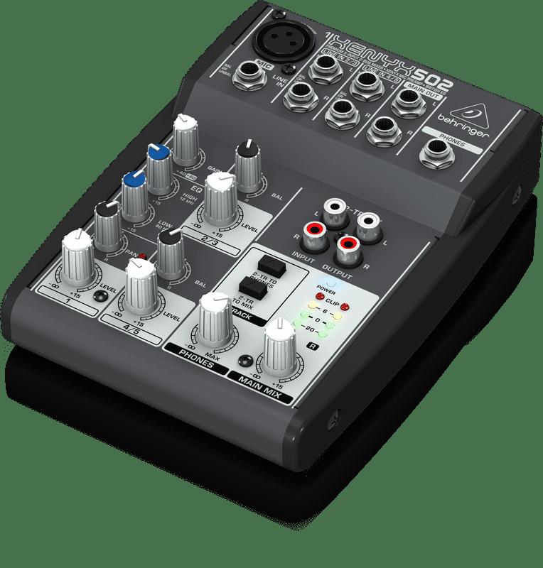 Behringer 502 Premium 5-Input 2-Bus Mixer w  XENYX Mic Preamp & British EQ by Behringer