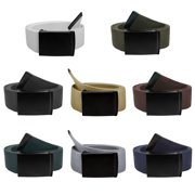 Gelante Fully Adjustable Canvas Web Belt with Black Flip Top Buckle 50'' Long