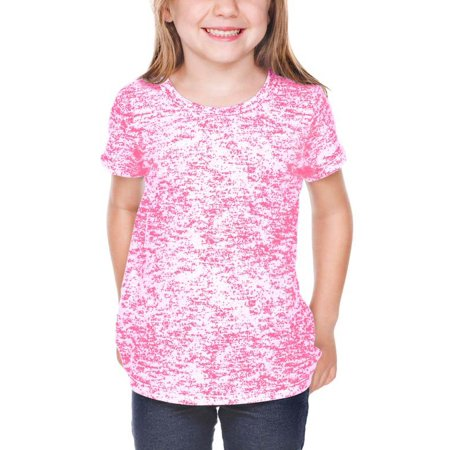 Girls 3-6X Static Jersey Print Crew Neck Short Sleeve, Style PJP0648