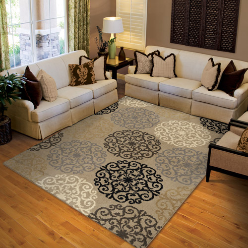 "Orian Harbridge Woven Olefin Fleece Area Rug, 5'3"" x 7'6"" by Orian Rugs Inc"