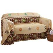 Aztec Southwest Furniture Throw Cover Large Sofa Beige