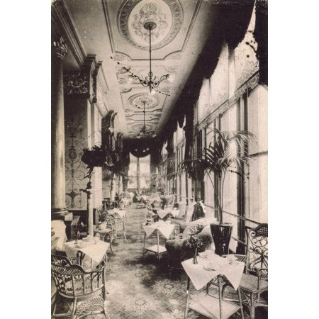 Mary Evans Jazz Age Club Stretched Canvas Art A View Of The Drawing Room Terrace Hotel Cecil Large 24 X 36 Inch Wall Decor Size