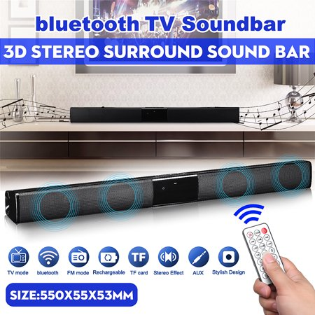 Wireless bluetooth 4.1 Soundbar TV Sound Home Theater Wireless Audio Speaker Stereo HIFI Superbass Subwoofer For Computer Desktop Laptop Tablet Smartphone Remote Control (Clear Controlled Sound)