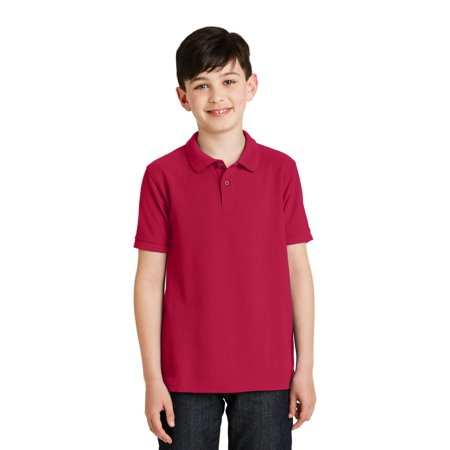 Port Authority® Youth Silk Touch™ Polo.  Y500 Red L - image 1 de 1