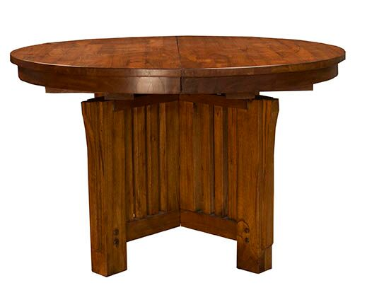 A-America Mission Hill 60 Inch Oval Pedestal Dining Table w Leaf in Harvest by