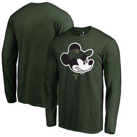 Milwaukee Bucks Fanatics Branded Disney Game Face Long Sleeve T-Shirt - Hunter Green