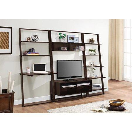 4d concepts arlington entertainment center with bookcase and desk