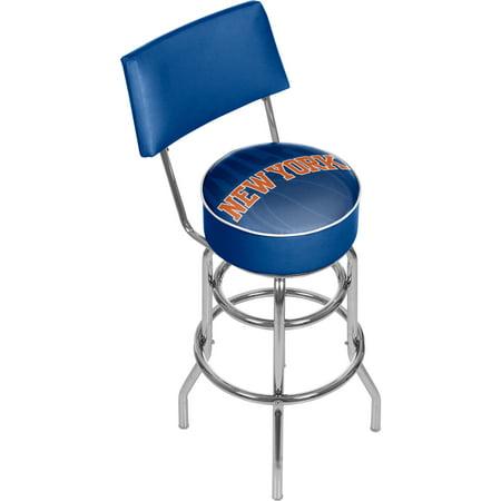 Nba Swivel Bar Stool With Back Fade New York Knicks Walmart Com