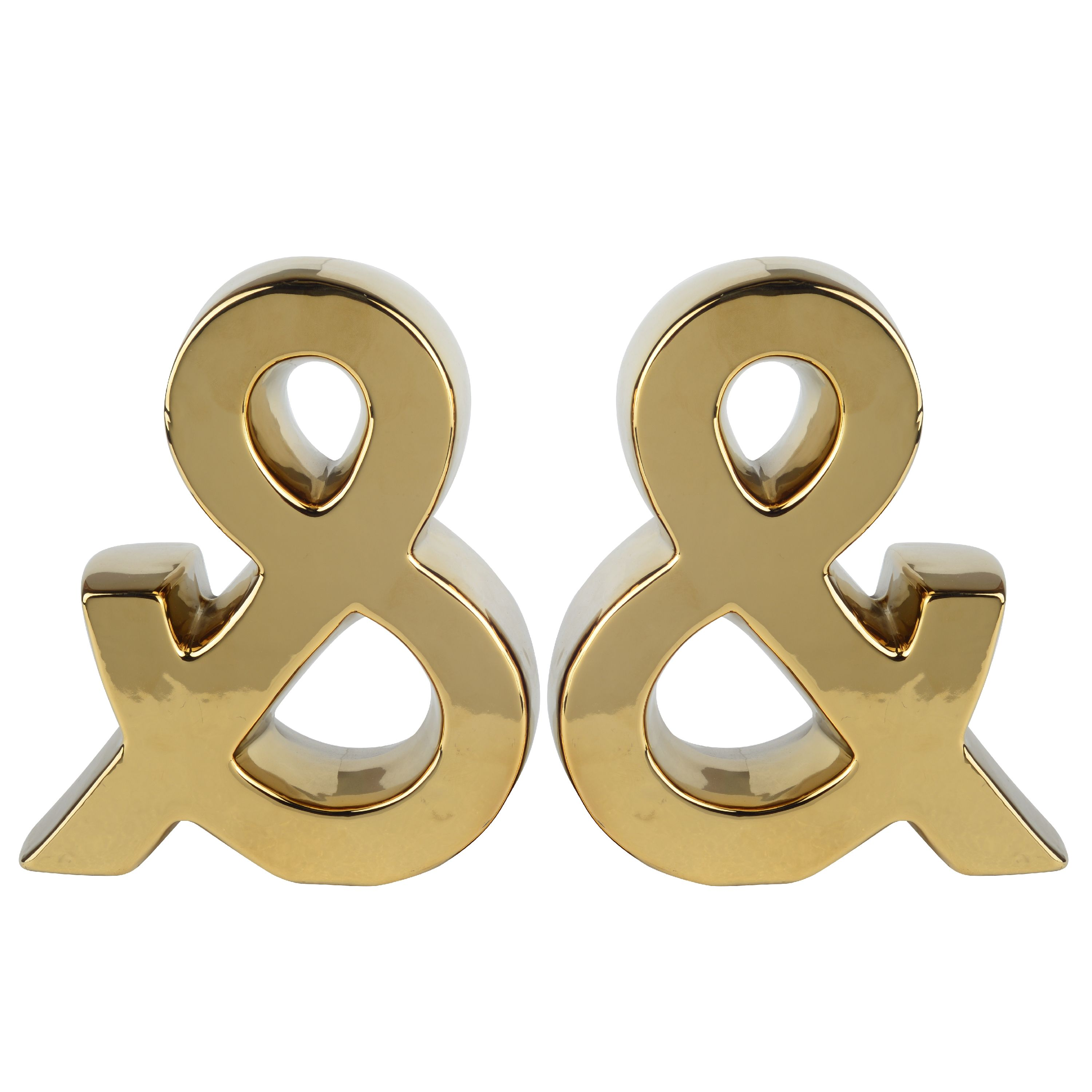A&B Home Urban Vogue Ampersand Bookend, Gold, Set of 2 by A&B Home