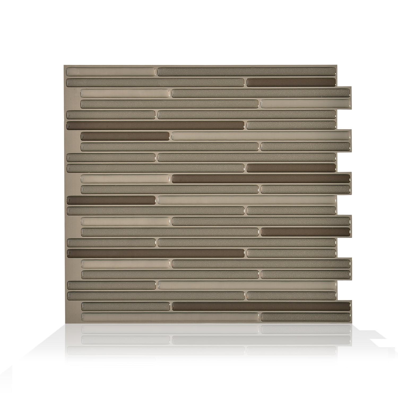Smart Tiles 10.20 in x 9.10 in Peel and Stick Self-Adhesive Mosaic Backsplash Wall Tile - Loft Maronne (each)