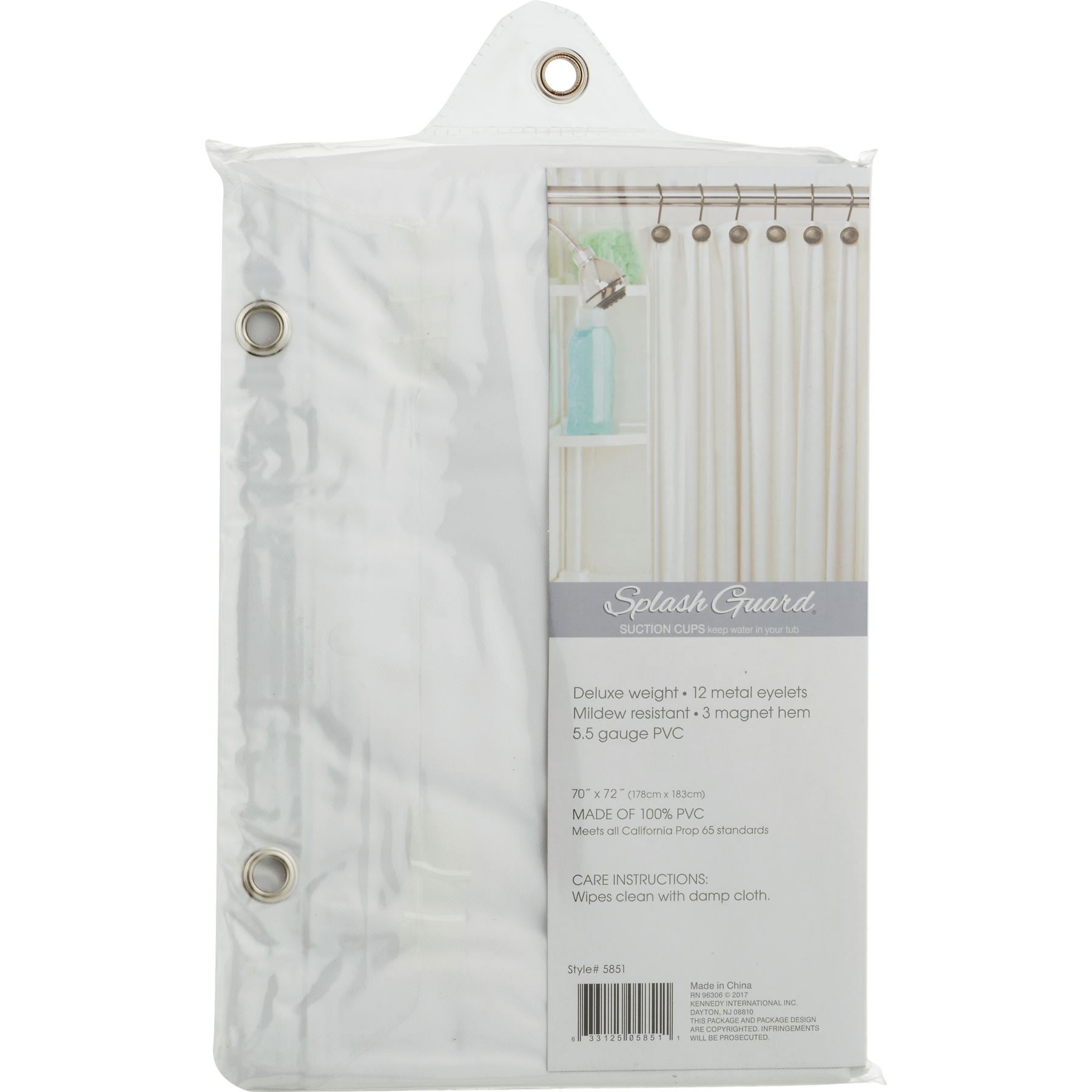 Bath Bliss Premium Shower Curtain Liner Frost