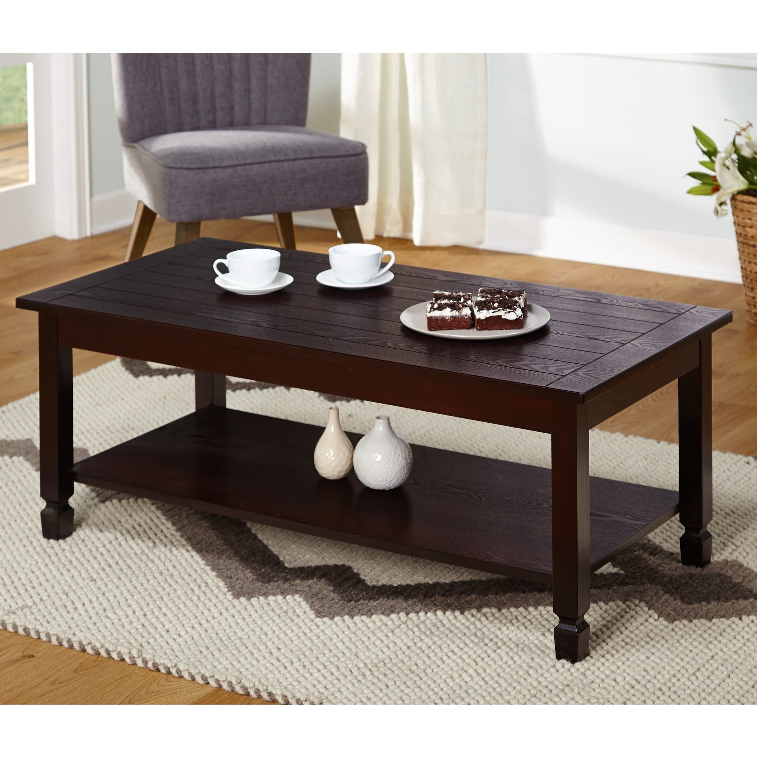 zenith cocktail table, espresso - walmart