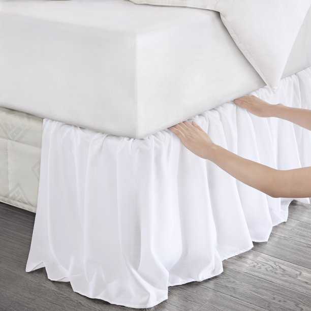 Better Homes Gardens Puddle Style Wrap Around Bed Skirt 1 Each Walmart Com Walmart Com
