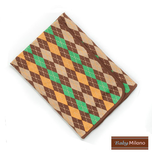 Baby Milano Baby Blanket in Brown Argyle