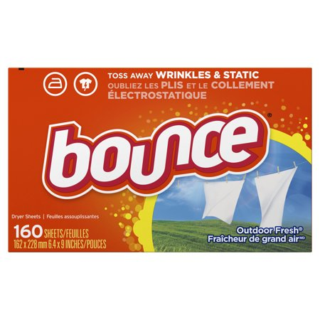 (2 Pack) Bounce Fabric Softener Sheets, Outdoor Fresh, 160 Count