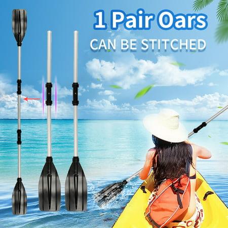 Mrosaa 1 Pair Aluminum Alloy Detachable Afloat Kayak Oars Paddles Boat Rafting Canoe, Boat Paddles And Oars ()