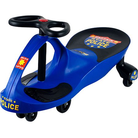 Lil' Rider Blue Chief Justice Police Car Foot-to-Floor Wiggle Ride-On