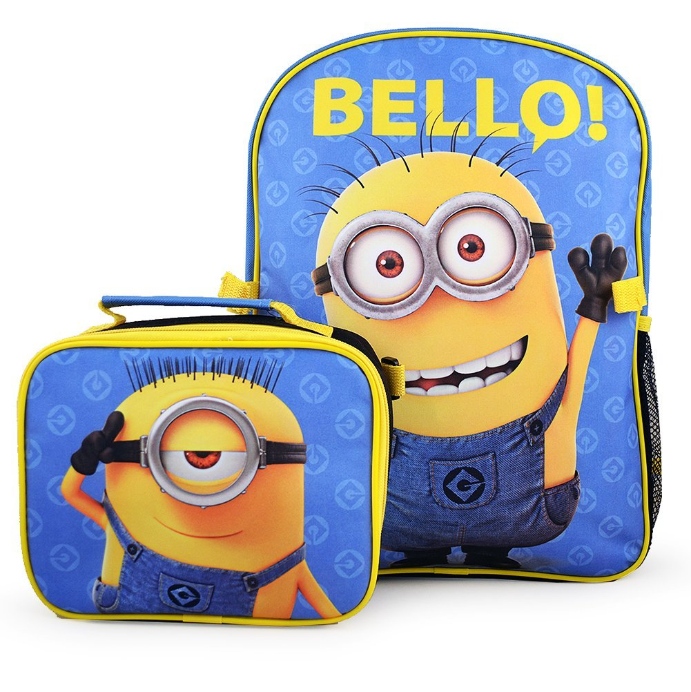 Despicable Me 'The Minions' Deluxe Backpack and Lunch Bag Set [Bello!]