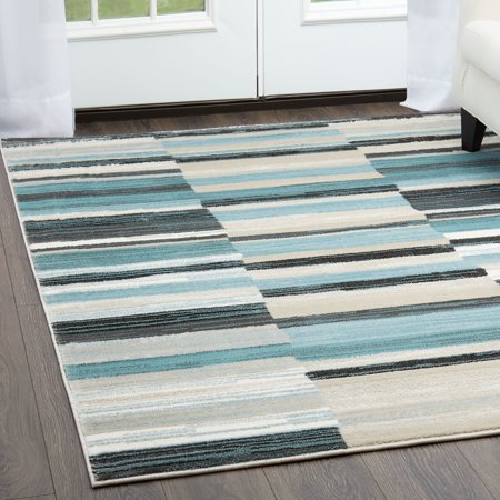 Home Dynamix Oxford Collection Modern Striped Rug (Modern Collection)