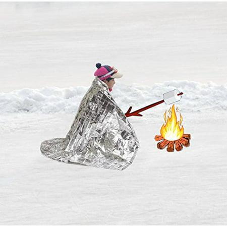 TEBRION Emergency 2-Adults Mylar Thermal Tent/Raincoat
