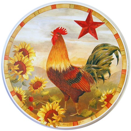 Electric Stove Burner Covers, set of 4, Morning Rooster All-Over PatternEach set comes with 2-8
