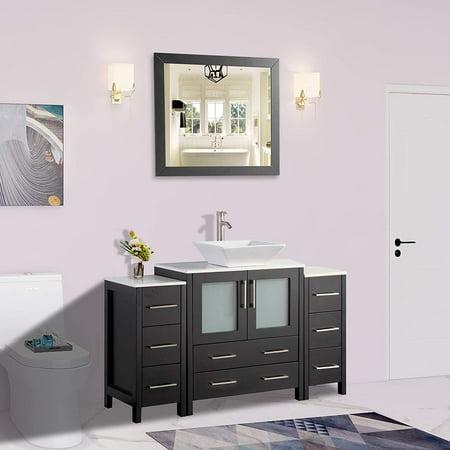 Vanity Art 54 Single Sink Bathroom Vanity Combo Set 8 Drawers 1 Shelf