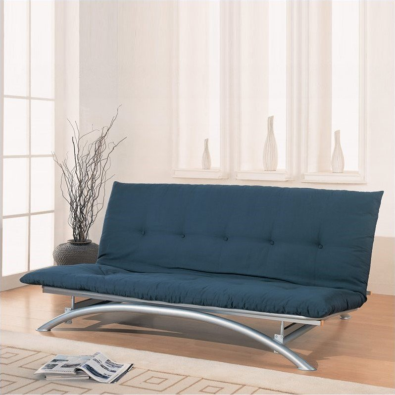 Coaster Metal Futon Frame in Silver by Coaster