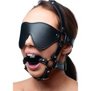 Strict Eye Mask Harness With Ball Gag
