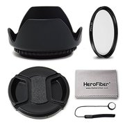 67mm Lens Accessories Kit includes 67mm Lens Hood + 67mm UV Filter + 67mm Lens Cap + Lens Cap Keeper + More