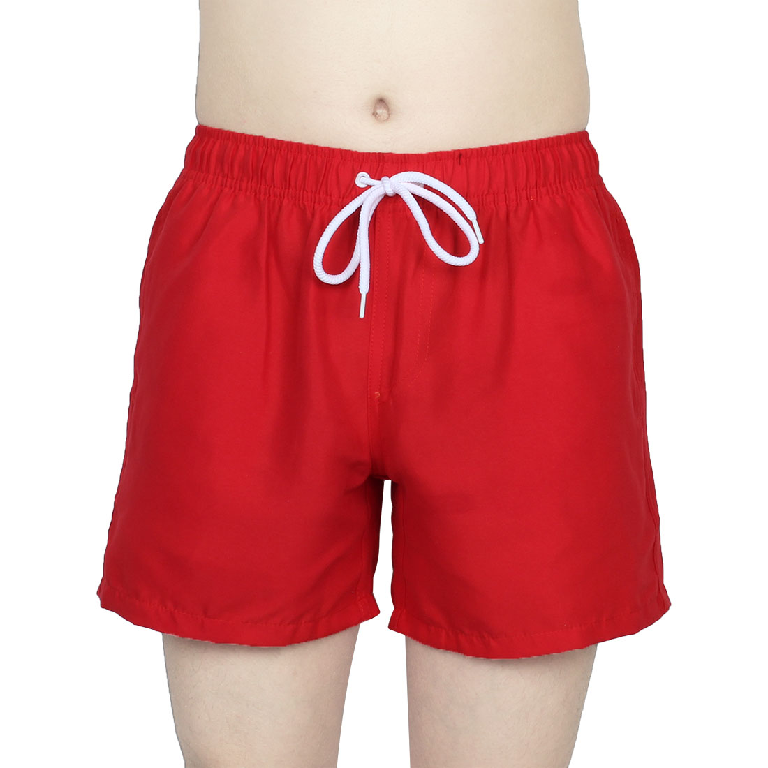 Chetstyle Authorized Men Summer Diving Surfing Beach Shorts Swim Trunks Red W 32