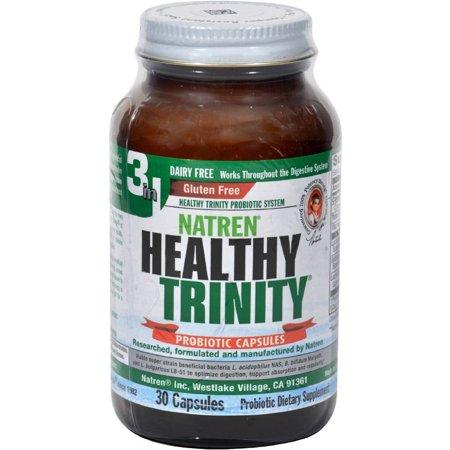 Non Dairy Products - Natren Healthy Trinity Dairy Free Capsules, 30 CT