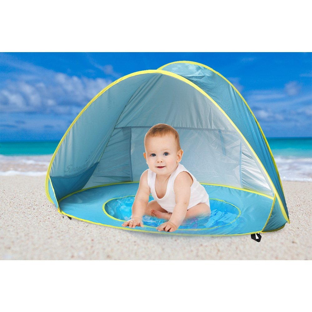 Baby Beach Tent Beach Umbrella Sunbayouth pop up tent UV Protection Sun Shelter Baby Pools - Walmart.com  sc 1 st  Walmart : beach tent umbrella - memphite.com