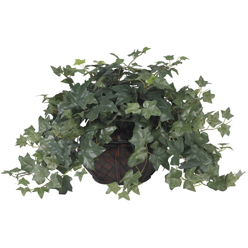 Puff Ivy with Vase Silk Plant
