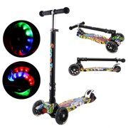 Kick Scooter for Kids 3 Wheel Led Scooters for Child with Adjustable Height Best Gifts for Children from 3-17 Years Old  Boys Girls TOYS2