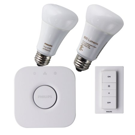 Philips Hue White Ambiance Starter Kit With 2 A19 Bulbs