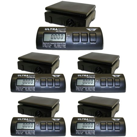My Weigh UltraShip 55lb. Digital Scale Pro 5-Pack for Kitchen or Shipping Use
