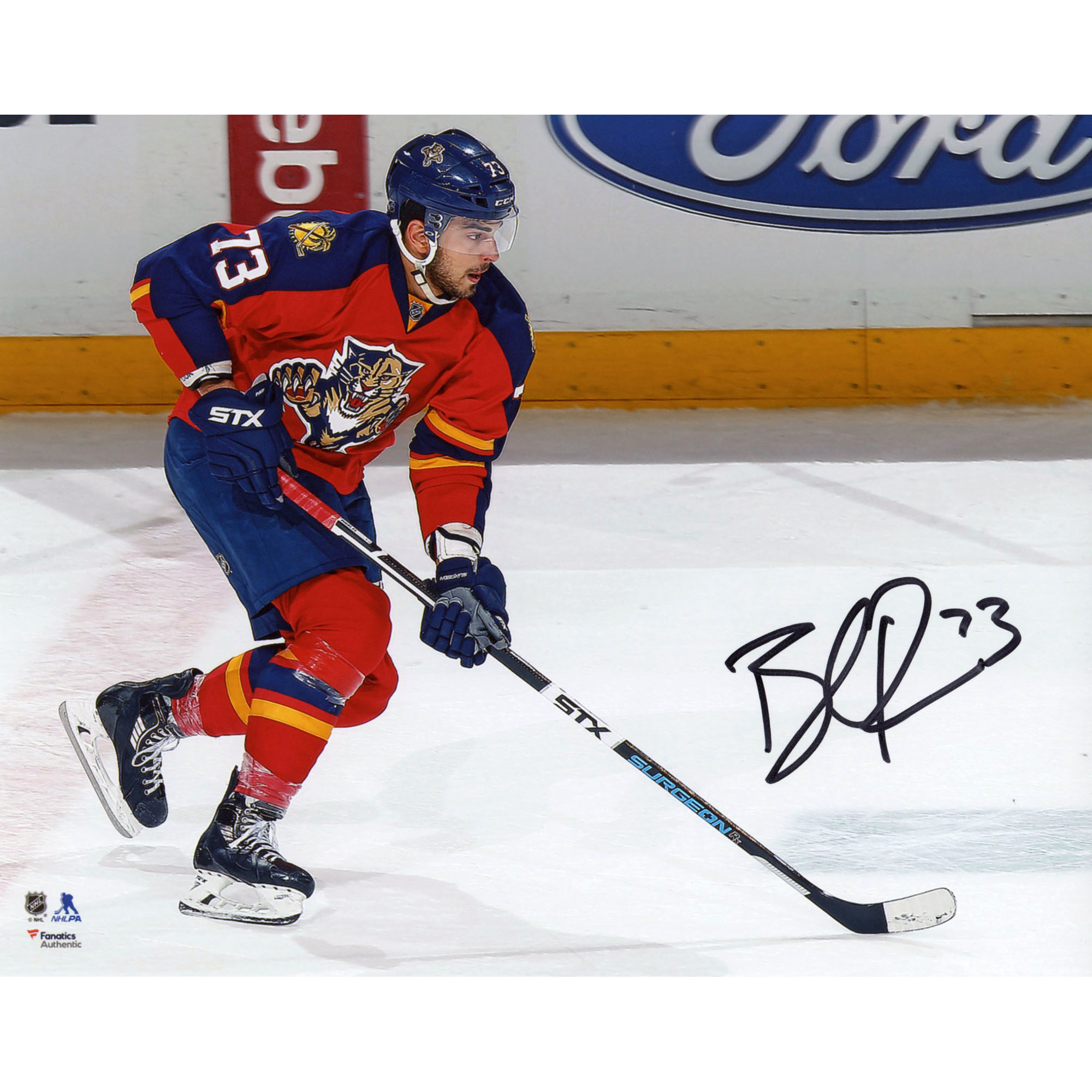 """Brandon Pirri Florida Panthers Fanatics Authentic Autographed 8"""" x 10"""" Red Jersey Skating With Puck Photograph - No Size"""