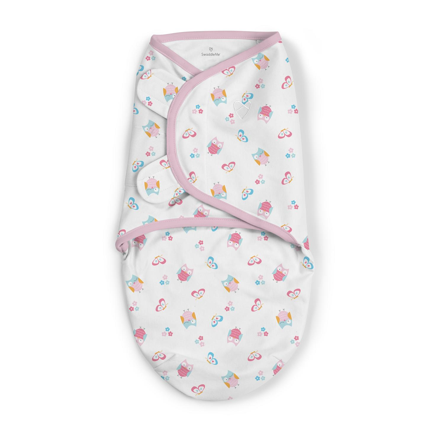 Summer Infant SwaddleMe 2 pk Cotton SM - What a Hoot