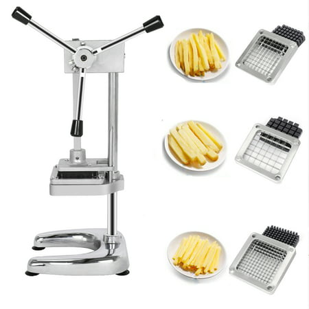 UBesGoo French Fry Vegetable Potato Cutter Slicer Commercial Quality w/3-Blade (3/8