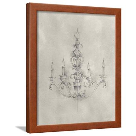 Chandelier Schematic III Framed Print Wall Art By Ethan Harper