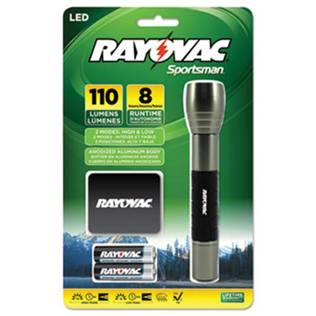 Ray-O-Vac SP2AABA Sportsman Flashlight, Holster, Black/Metallic Sage, 2 AA