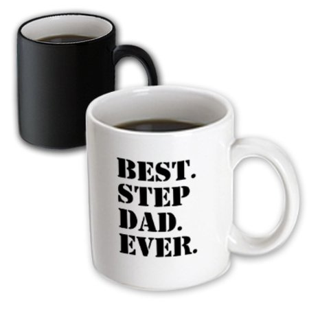 3dRose Best Step Dad Ever - Gifts for family and relatives - stepdad - stepfather - Good for Fathers day, Magic Transforming Mug, (Cheap Gifts For Father's Day)