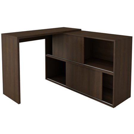 Bookcase Secretary Desk - Manhattan Comfort Bari Bookcase Desk