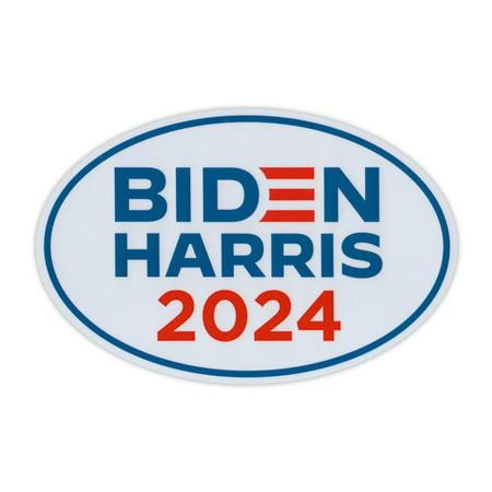 "Oval Political Campaign Magnet, Joe Biden Kamala Harris 2024 Logo Magnet, 6"" x 4"" Magnetic Bumper Sticker"